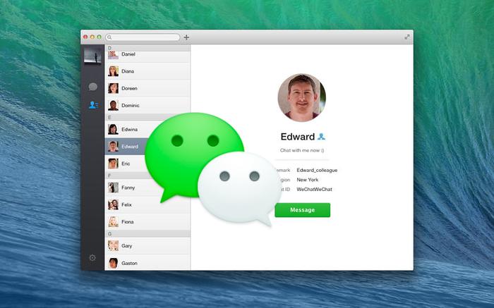 WeChat для Mac OS X